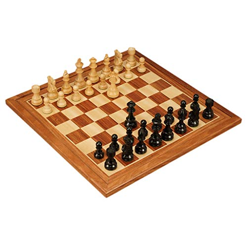(ZWS International Wooden Chess Board Creative Wooden Chess Piece Kids Intellectually Development Learn Toys Storage Checkers Chess Intellectual Game (Color : B))
