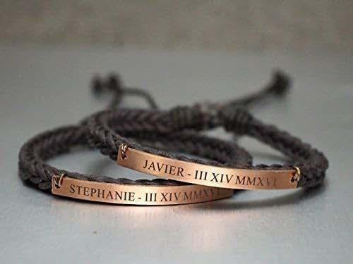 Amazon.com: Name Anniversary Date Couple Bracelets