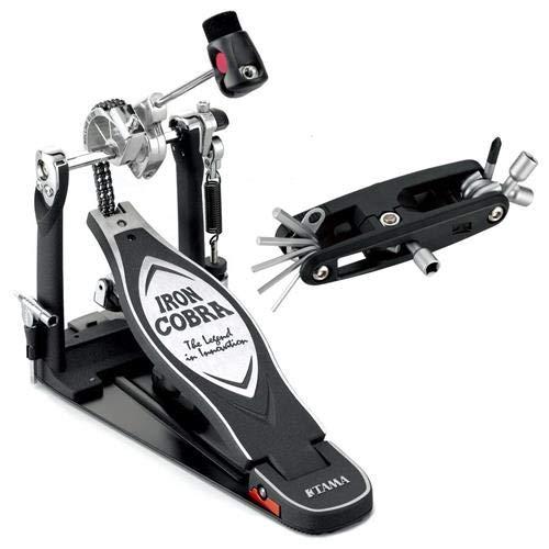 Tama HP900RNB Iron Cobra 900 Rolling Glide Single Pedal w/Bonus Multi-Tool - Glide Single Pedal