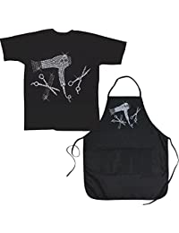 Access (Set) Hair Stylist Tools Faux Jewel Design Apron & Hairdresser TeeXL deliver