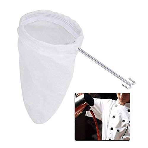 Coffee Filters - 1 Filter Bag Stainless Steel Coffee Strainer Tea Reusable Dripper Sock - Disk Cone Basics Extra Travel 8-12 Tone Yogurt Organizer Japanese Reusable Greek Drip Free Grabber ()