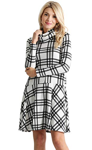 cowl neck belt sweater dress - 4