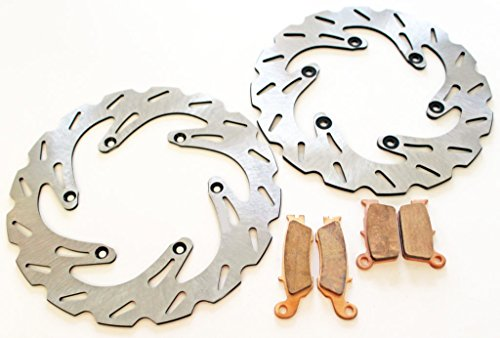 2008-2013 YZ250F YZ450F Front & Rear RipTide Brake Rotor & Brake Pads by Race-Driven