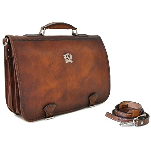Pratesi Secchieta messenger bag - B610 Bruce (Negro) Marrón