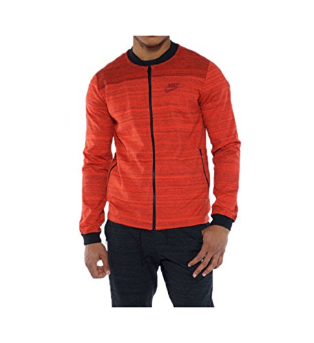 Nike Men's Sportswear Advance 15 Knit Jacket (Medium, Max Orange) by NIKE (Image #1)'