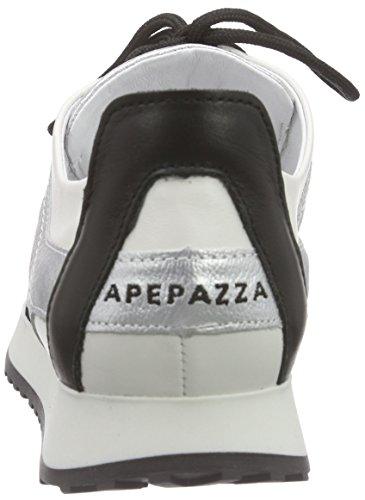 Nero schwarz Apepazza Mono specchio silver Ginnastica Donna Mesh Scarpe Da nero P0q6PUB