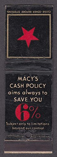 Macy's 34th St & Broadway New York Cash Policy 6% - St 34 Macys