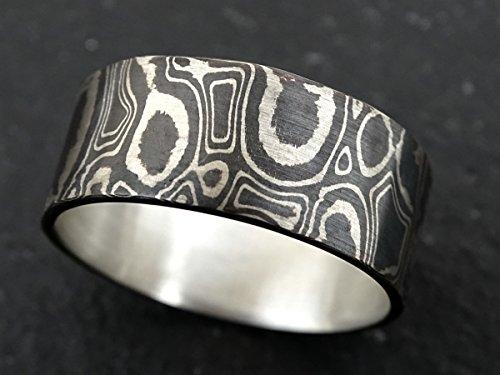Mokume Wedding Ring - mokume gane wedding band mens wood grain ring, mokume gane ring mens mokume ring, mokume gane mens ring, mokume wedding band for men