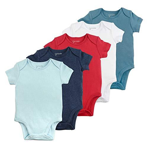 Baby Boy Bodysuit Set, 5-Pack Short Sleeve Bodysuits, 24 Month ()