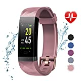 LETSCOM Fitness Tracker Color Screen HR, Activity Tracker with Heart Rate Monitor, Sleep Monitor, Step Counter, Calorie Counter, IP68 Waterproof Smart Pedometer Watch for Men Women Kids
