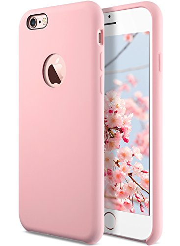 Coolwee Liquid Silicone Rubber iPhone 6s Plus case Shockproof with Soft Microfiber Cloth Cushion Gel Case for Apple iPhone 6 Plus 5.5 inch Light Pink ()