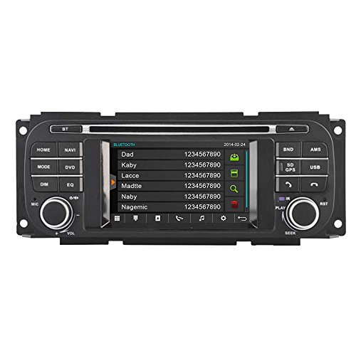 (Witson Car DVD Player with GPS Navigation 1999 2000 2001 2002 2003 2004 Jeep Grand Cherokee, Dodge, Chrysler Car DVD Player with in-Dash Navigation System Capacitive Touch Screen)
