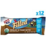 Clif Kid ZBAR Filled - Organic Energy Bar - Chocolate Peanut Butter - (1.06 Ounce Snack Bar, 12 Count) (Packaging May Vary)
