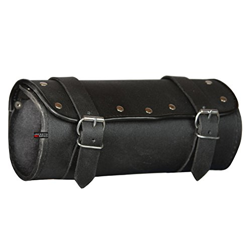 Leather Motorcycle Roll Bags - 7