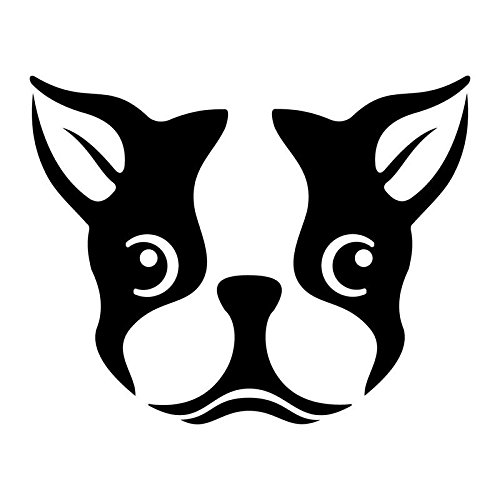 Cute Boston Terrier Dog Vinyl Decal Sticker | Cars Trucks Vans SUVs Windows Walls Cups Laptops | Black | 5.5 Inch | ()
