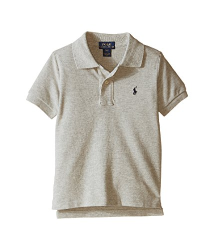 Polo Ralph Lauren Little Boys Polo Pique (3/3T, New Grey Heather (Black Pony))