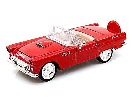 Amazon Motormax 1956 Ford Thunderbird Open Convertible 124 Red
