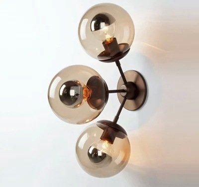 CCWY The Nordic personality creative glass wall lamp head lamp orbs Magic Bean chandeliers DNA molecule restaurant lounge light