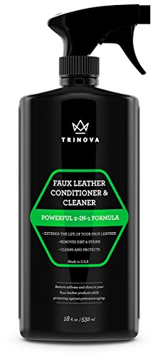 Vinyl and Faux Leather Cleaner & Conditioner - Keep Seats, Jackets, Vinyl, Handbags, Sofas, Couches, Shoes, Boots & More Looking New - TriNova (Motorcycle Leather Seat Cleaner compare prices)
