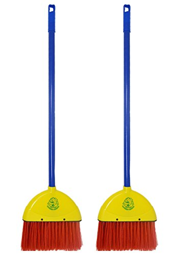 Children's Broom - 2 Pack - by Laughing Lettuce - Kid's Toy Broom Sweeps Like a Real (Lettuce Set)