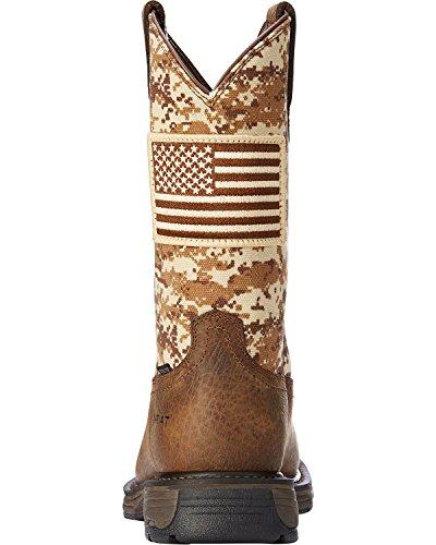 Ariat Men's Workhog Patriot Western Boot Steel Toe Brown 7 D by Ariat (Image #3)