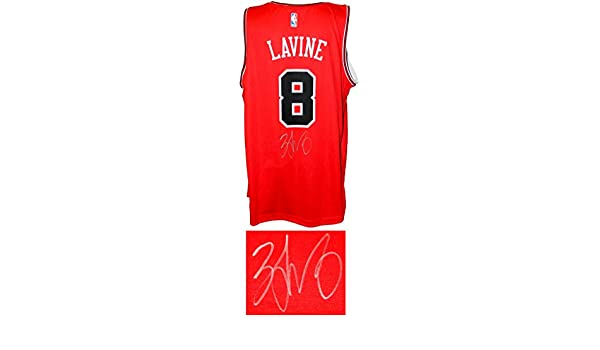 Zach LaVine Signed Chicago Bulls Red Fanatics Replica Basketball Jersey at  Amazon s Sports Collectibles Store 719d28a91