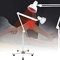 Infrared Lamp 275W Infrared Heat Therapy Lamp Floor Stand Professional Light Body Muscle Pain Relief Effective Treatment IR Heating Lamp Far Infrared Therapy Lamp Red Light