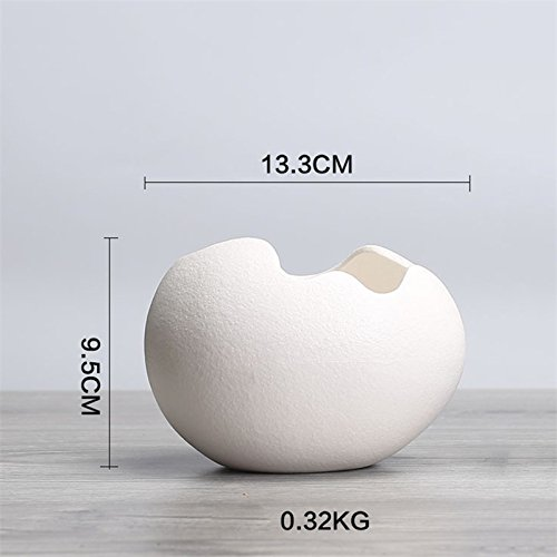 - Amyove Creative Ceramic Egg-shaped Flowerpot Simple Hydroponic Plant Container as Decorations