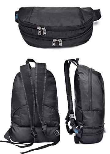 Waist Bag for Women, Men: Multi-Use Hip Pouch Backpack / Black Fanny Pack / Bum Bag / Waist Bag - Sling Bag - Converts to Backpack for Travel, Festival, Fun