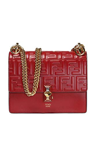 Fendi Women's 8M0381a417f0mvv Red Leather Shoulder Bag