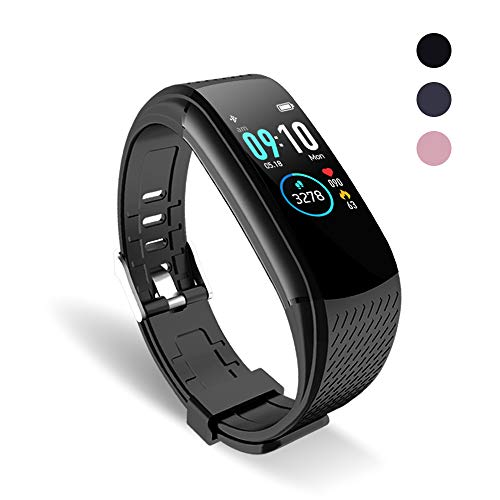 oriver Fitness Tracker with Pedometer, IP67 Waterproof Activity Tracker Pedometer Step Tracker, Black