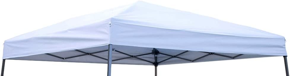 Trademark Innovations SLANTOP-10WHITE Square Replacement Canopy Gazebo Top, 8' x 8', Silvery White