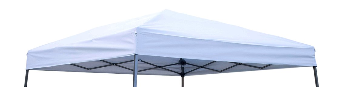 Trademark Innovations Square Replacement Canopy Gazebo Top for 10' Slant Leg Canopy, 8 by 8',Silvery White