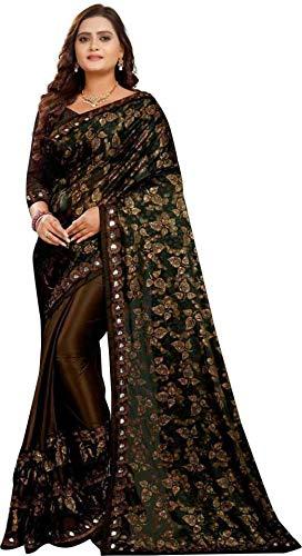 Impression Fab Womens Embellished Bollywood Silk Blend Saree