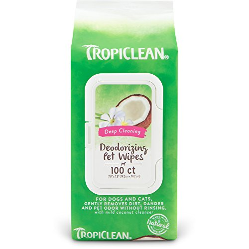 Tropiclean Deep Cleaning Wipes for Pets, 100ct by Tropiclean
