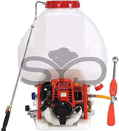Mochila para sulfatar 25l. Motor 4 tiempos y bomba de 2 pistones de acero con cabeza cerámica.