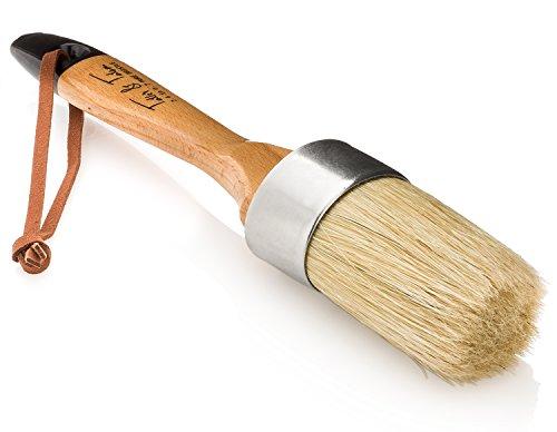 Tatler & Tatum Round Chalk Paint & Wax Brush for Furniture | Large, Natural Pure Bristles Lavender Stone Set