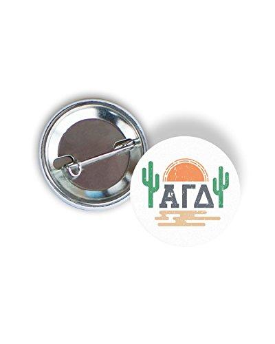 Alpha Gamma Delta Sorority Sunset Cactus Pin Back Badge 2.25-inch Button Alpha Gam