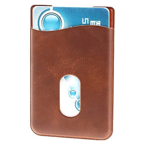 Adhésifs De Noir Crédit Mobile Retour Wallet Téléphone 3m D'identité Case Autocollant Sac Stickers Cuir Pochette En Porte Jerkky Marron Poche cartes Carte wSzYYC