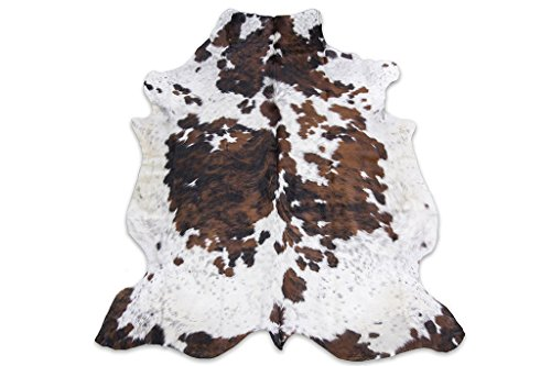 tricolor rodeo cowhide rug xxl 6x8ft