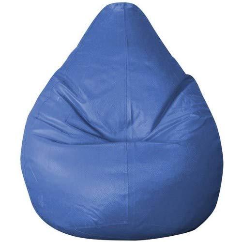 Madaar Homez Artificial Leather Teardrop Blue Bean Bag  X Large