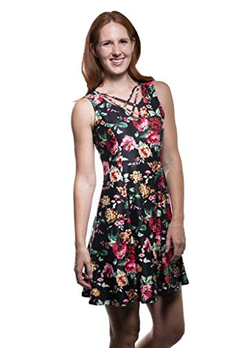USA in Floral Women's Dress Calison Made Multi Fashion Sleeveless p0SUawqF