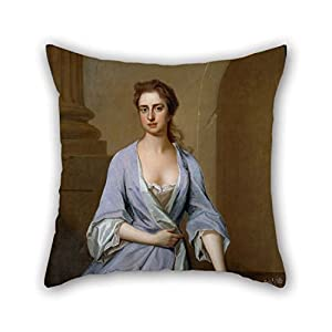 TonyLegner Oil Painting Dahl, Michael - Portrait of A Lady Throw Pillow Case 16 X 16 Inches / 40 by 40 cm for Pub Boys Outdoor Office Bar Seat Dinning Room with Both Sides