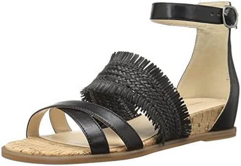 Nine West Women's Vernell Leather Wedge Sandal