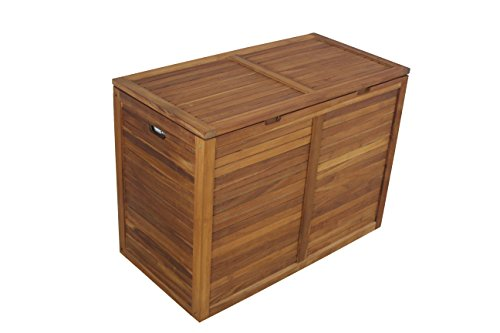 The Original Moa Double Teak Laundry or Storage Hamper by AquaTeak