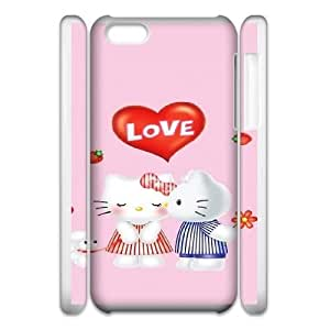 Personalized Durable Cases iphone5c 3D Cell Phone Case White Pink Hello Kitty Cartoon Kpogs Protection Cover