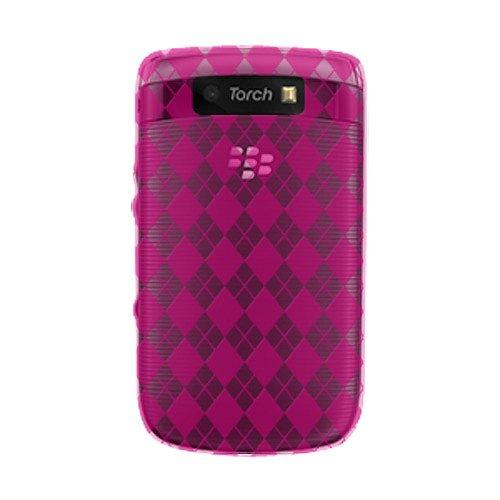 Amzer 89250 Luxe Argyle High Gloss - Carcasa blanda para BlackBerry Torch 9800, color rosa