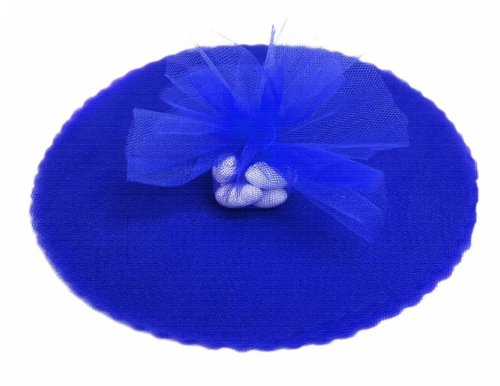 BalsaCircle 200 pcs 9-Inch Royal Blue Net Tulle Fabric Circles - Wedding Party Baby Shower Gift Favors Candy Wrapping Crafts Supply - Blue Wedding Favor Tulle