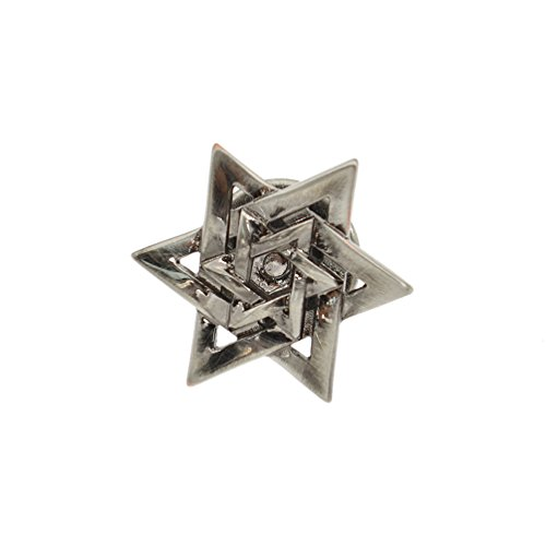 Lychee Star of David Brooch Pin Breast Pin Lapel Pin Bag Badge Accessories