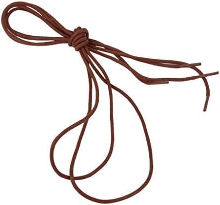 2ペア 3mm 100cm コットン ラウンド 靴ひも 靴紐 赤茶色